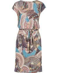 Issa Printed Jersey Dress - Lyst