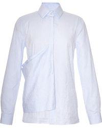 J.W. Anderson Stripe Crinkled Cotton Flag Shirt - Lyst