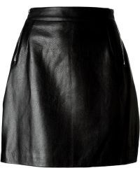 McQ by Alexander McQueen Side Zip Skirt - Lyst