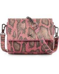 Halston Heritage Structured Mini Crossbody Bag pink - Lyst