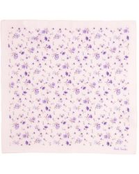 Paul Smith Floral-Print Cotton Pocket Square - Lyst