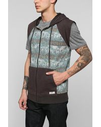 Insight - Jungle Sleeveless Zipup Hoodie Sweatshirt - Lyst