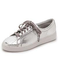 Michael Kors Valin Runway Sneakers - Silver - Lyst