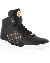 Versace Medusa Hightop Trainer - Lyst