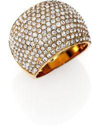 Michael Kors Brilliance Statement PavÉ Dome Ring/Goldtone - Lyst