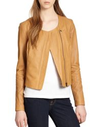 Joie Emelyn Backpeplum Leather Jacket - Lyst