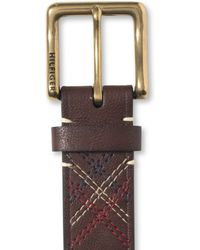 Tommy Hilfiger Stitch Detail Belt - Lyst