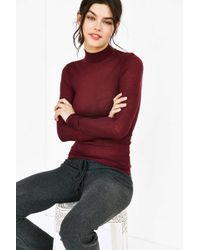 Out From Under - Ribbed Turtleneck Top - Lyst