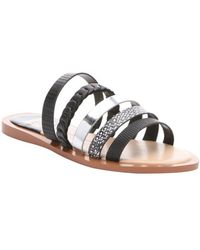 DV by Dolce Vita | Black And Silver Leather 'nalaa' Multi-strap Sandals | Lyst