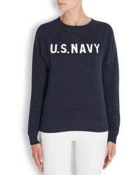 NLST | Raglan Army Navy Printed Cotton Sweatshirt | Lyst