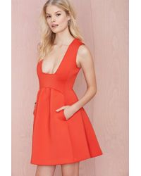 Nasty Gal Square Up Scuba Dress - Lyst