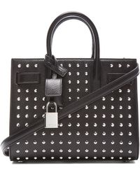 Saint Laurent Baby Sac Du Jour Studded Carryall Bag - Lyst