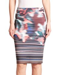 Clover Canyon   Floral Ikat Skirt   Lyst