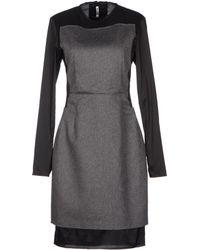 Acne Studios Gray Short Dress - Lyst