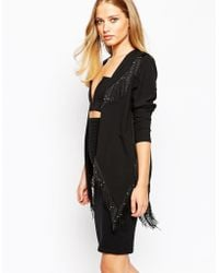 Oh My Love - Fringe Jacket With Metallic Beads - Lyst