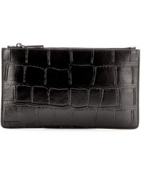 Jil Sander - Embossed Leather Pouch - Lyst