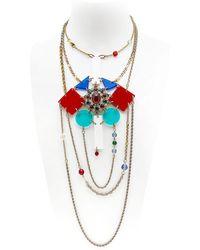 Maria Zureta | Rainbow & Gold Chain Necklace | Lyst