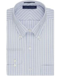 Tommy Hilfiger Non-Iron Green And Blue Check Dress Shirt green - Lyst