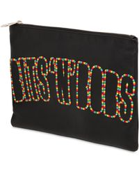 House of Holland - Bits N Bobs Embroidered Leather Pouch - Lyst