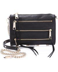 Rebecca Minkoff Mini 5 Zip Bag - Black - Lyst