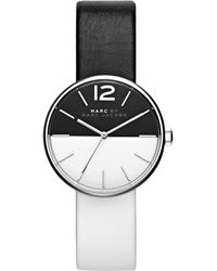 Marc By Marc Jacobs Peggy Bicolor Stainless Steel & Leather Strap Watch silver - Lyst