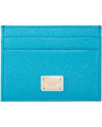 Dolce & Gabbana | Blue Leather Card Holder | Lyst