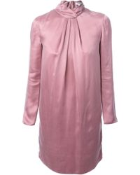 Carven Pleated Band Collar and Front Dress - Lyst