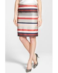 Hugo Boss 'Vistripy' Stripe Pencil Skirt - Lyst