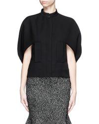 Alexander McQueen | Wool-silk Scuba Cape Jacket | Lyst