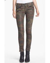 Rag & Bone Skinny Camo Print Leather Pants - Lyst