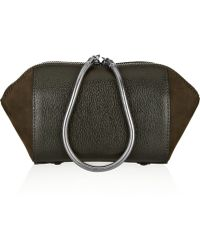 Alexander Wang Chastity Textured-leather and Suede Cosmetics Case - Lyst