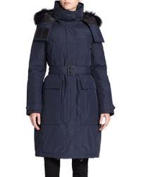 Burberry Brit Stateford Fur Trim Puffer Coat - Lyst