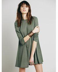 Free People Green Elise Dress - Lyst