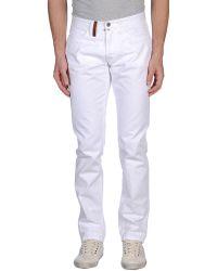 Trussardi Denim Trousers white - Lyst