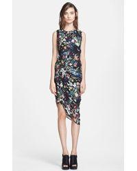 McQ by Alexander McQueen Festival Floral Smocked Silk Dress - Lyst