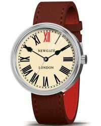 Newgate Watches | Wwlkngvs018lb Unisex King Vintage Stainless Steel Leather Strap Watch | Lyst