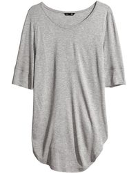 H&M Jersey Top - Lyst