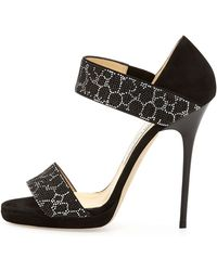 Jimmy Choo Lee Studded Double-band Sandal - Lyst