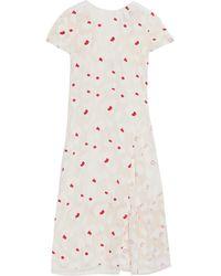 Nina Ricci Appliqué Crepe Midi Dress - Lyst
