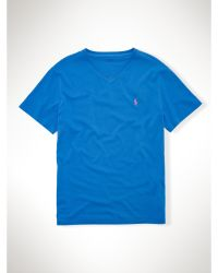Polo Ralph Lauren Cotton Jersey V-neck T-shirt - Lyst