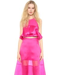 Karla Špetic - Pleated Colette Top - Fuchsia - Lyst