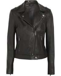 Karl Lagerfeld Audrina Leather Biker Jacket - Lyst