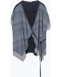Zara Indigo Wrap Jacket - Lyst