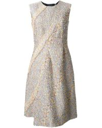 Jil Sander Tweed Style Dress - Lyst