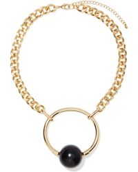 Nasty Gal Ring My Ball Necklace - Lyst