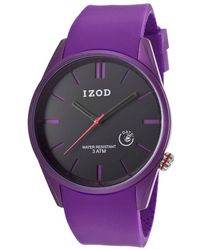 Izod - Essential Purple Rubber Black Dial - Lyst