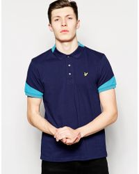 Lyle & Scott Lyle & Scott Polo With Contrast Collar And Sleeves - Lyst
