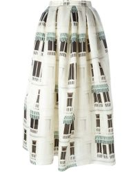 Daniele Carlotta - Window Print Full Skirt - Lyst