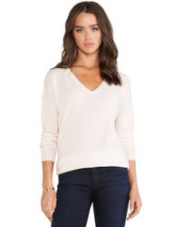 Kingsley Cashmere Cozy V Neck Sweater - Lyst