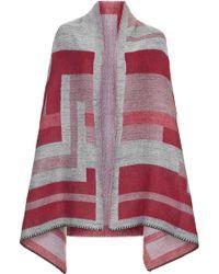 Topshop Geo Stitched Blanket Scarf - Pink - Lyst
